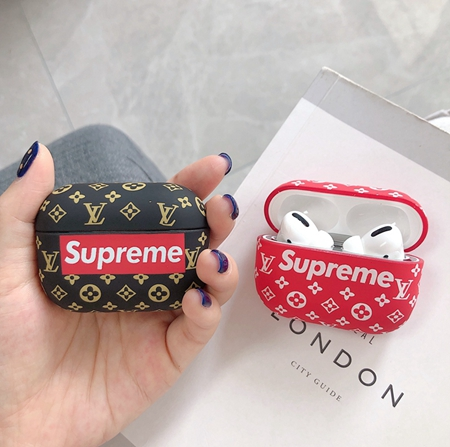 Supreme モノグラム柄Airpods proケース